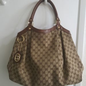 Gucci Sukey Large canvas tote/shoulder bag